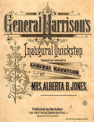 1889 in music - sheet music cover