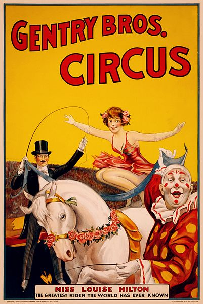 File:Gentry Bros. Circus poster featuring Miss Louise Hilton, 1920-22.jpg
