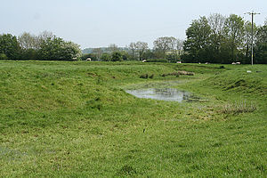Marston Moat - The remains of the moat