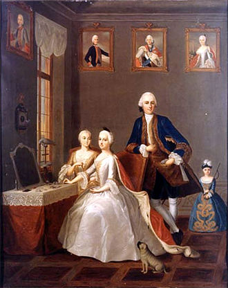 Prince George William of Hesse-Darmstadt - George William and family (1753)