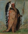 George Catlin, Ee-áh-sá-pa, Black Rock, a Two Kettle Chief, 1832, oil on canvas, Smithsonian American Art Museum.jpg