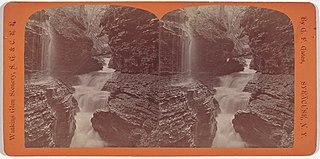 Watkins Glen Scenery, Rainbow Falls and Triple Cascades