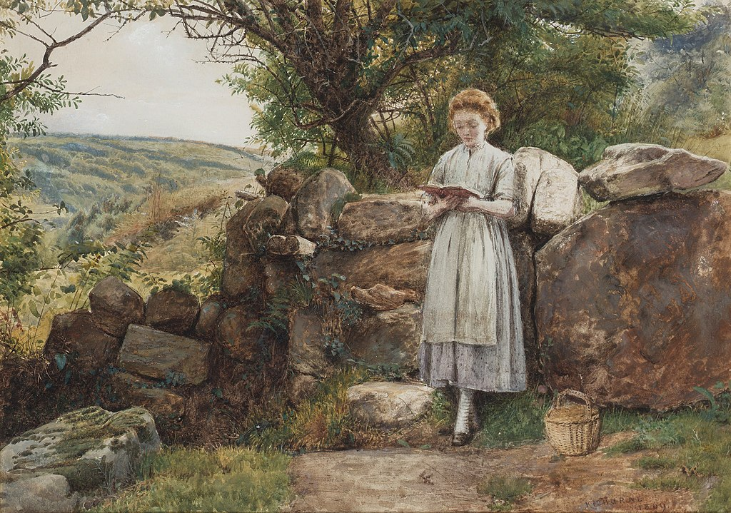 George Goodwin Kilburne A peaceful read 1869.jpg
