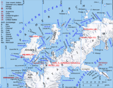 Vernadsky Research Base Wikipedia - Antarctic research stations map