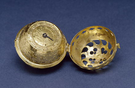 The earliest dated watch known, from 1530 German - Spherical Table Watch (Melanchthon's Watch) - Walters 5817 - View C.jpg