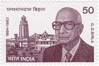 G. D. Birla - Birla on a 1984 stamp of India