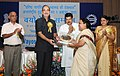 Ghulam Nabi Azad presenting the Vayoshrestha Samman, 2011 for Institution of Service to Kinnera Welfare Society, Mehdipatnam, Hydrabad, on the occasion of the 'International Day of Older Persons'.jpg