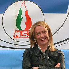 Giorgia Meloni a Sanremo durante la campagna elettorale per le elezioni europee del 2014