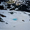 Glacier mini lake on Pizzo Scalino (3.323 m.a.s.l.) Valmalenco, Sondrio, Lombardia, Italy. 2018-06-09.jpg