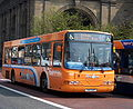 Go North East bus 4840 Volvo B10BLE Wrightbus Endurance 340 GUP The Diamond livery in Newcastle 25 April 2009.JPG