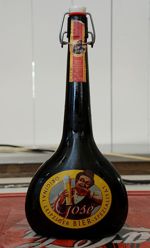 Gose - Traditional gose beer bottle produced in Leipzig, Germany.