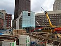 Government Center station headhouse construction (2), October 2015.JPG