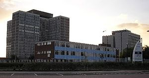 Llanishen - HM Government buildings, Phase 2 (left) and Gleider House – Phase 1 (right) and Ty Rhodfa in the foreground