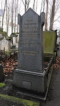 Grab von Bernhard Beer, Alter Jüdischer Friedhof Dresden.JPG