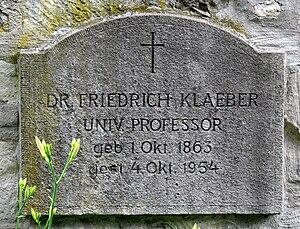 Frederick Klaeber - Grave of Klaeber in Bad Kösen (Germany)