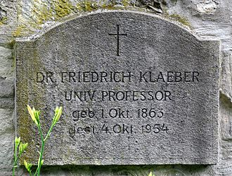 Frederick Klaeber - Grave of Klaeber in Bad Kösen (Germany)