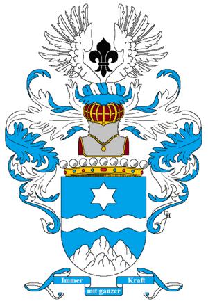Viktor Dankl von Krasnik - Arms of Count Dankl von Krásnik, 1918