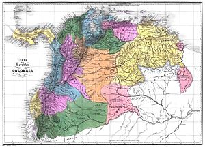 Subdivisions of Gran Colombia - Gran Colombia departments in 1824.