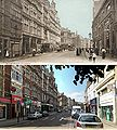 Granby Street Leicester c1903 and 2009.jpg