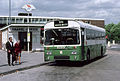 Green Line NBC bus RP1 AEC Reliance 6U2R dual purpose Park Royal JPA 101K in Harlow Bus Station, Essex August 1979.jpg