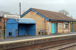 Greenisland railway station Railway station in Northern Ireland
