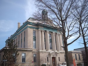 Greenwich, Connecticut - Greenwich Town Hall is one of 34 sites in Greenwich listed on the National Register of Historic Places