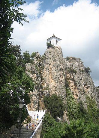 El Castell de Guadalest - The tourist town of Guadalest.