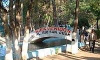 "Walkway over Rio San Juan, near the ""Nacimiento"""