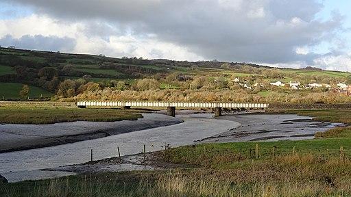 Gwendraeth Fach railway bridge, Kidwelly, Wales