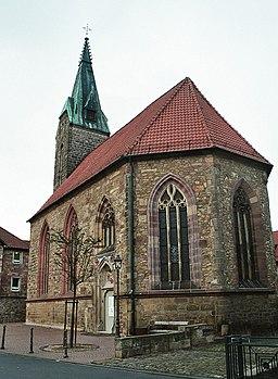 Hünfeld, die Kirche zum Heiligen Kreuz