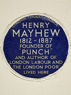 Photo of Henry Mayhew blue plaque