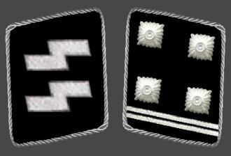 Obersturmbannführer - Image: HH SS Obersturmbannfuhrer Collar