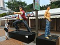 HK Kln Park Hong Kong Avenue of Comic Stars 扎馬步 Heroes Oct-2012.JPG
