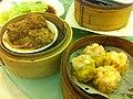HK Sheung Wan 金鑽海鮮皇宮酒家 Daimond Restaurant 點心 Dim Sum 牛肉球 Beef balls 燒賣 streamers March-2012.jpg