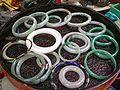 HK Sheung Wan Upper Lascar Row 2nd hand market Jadeite bracelets.JPG