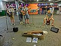 HK TST night The Flame Band Star Ferry Piers June-2013.JPG