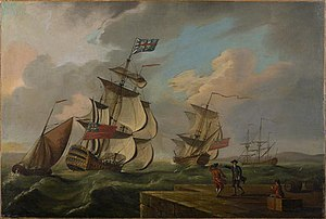 John Rous - HMS Sutherland sailed by John Rous during the Siege of Louisbourg (1758)