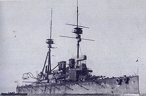 HMS Lord Nelson (1906) - Image: HMS Lord Nelson (1906) during trials 1908