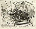HUA-135586-Plattegrond van de stad Utrecht met directe omgeving met weergave van wegen en watergangen van het stratenplan en van enkele kerken en pleinen met ges.jpg