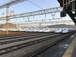 Hakata General Train Base from platform of Hakata-Minami Station 5.jpg