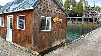 Floating post office, Halibut Cove, Alaska Halibut Cove Post Office.jpg