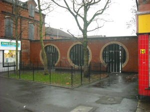 Interface area - Entrance on Duncairn Gardens to the Catholic section of Halliday's Road