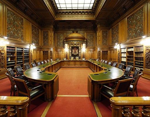 Hamburger Rathaus.Senatssaal