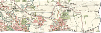 Springburn - Map of North Glasgow in 1923, including Springburn