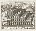 Hangende tuinen van Babylon Horti Pensiles Babylonii (titel op object) Magesyn der Italiaense gebouwen (serietitel), RP-P-1957-653-98-3.jpg