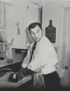 Hank Stram - Stram from the 1955 Purdue yearbook