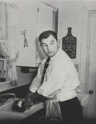Hank Stram - Stram from the 1955 Purdue yearbook