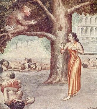 Sita - Hanuman finds Sita in Ashokavana
