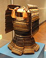 Haramaki type armor with black leather lacing in kata-susotori style, Muromachi period, 15th century - Tokyo National Museum - DSC05937.JPG