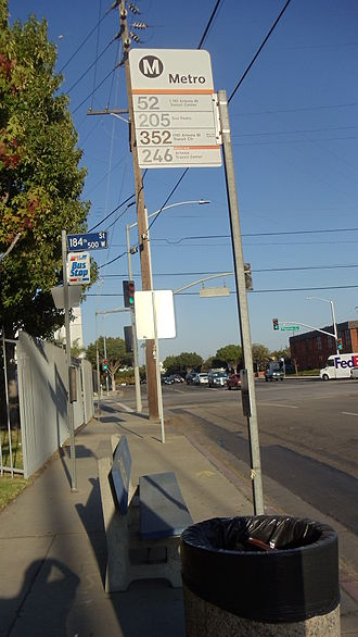 Harbor Gateway, Los Angeles - Metro Local Bus stop near Harbor Gateway Transit Center